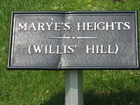 Sign for Marye's Heights (Now National Cemetery)